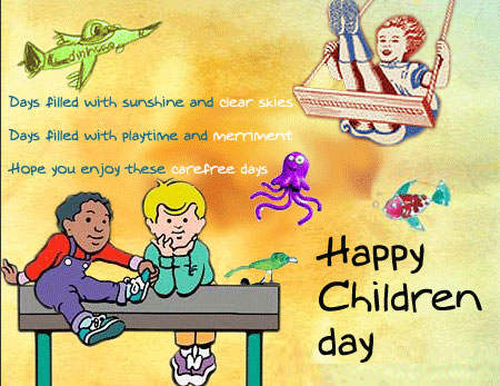 Hope You Enjoy These Care Free Day Happy Children's Day Wishes Image
