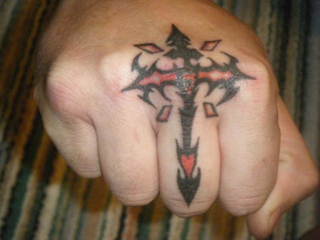 Horrible Hand Tattoo Design For Boys