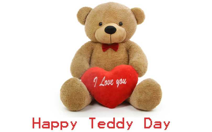 I Love You Happy Teddy Day Wishes Wallpaper