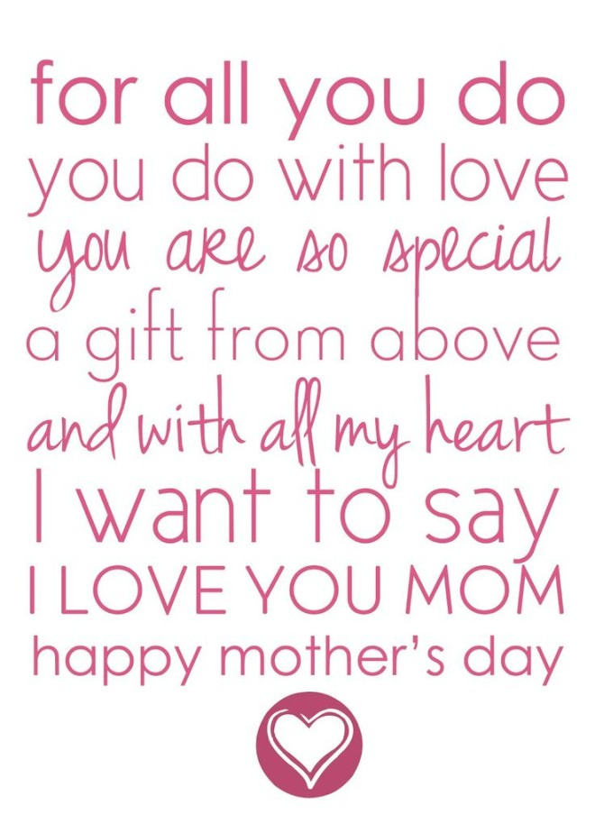 I Want To Say I Love You Mom Happy Mother's Day
