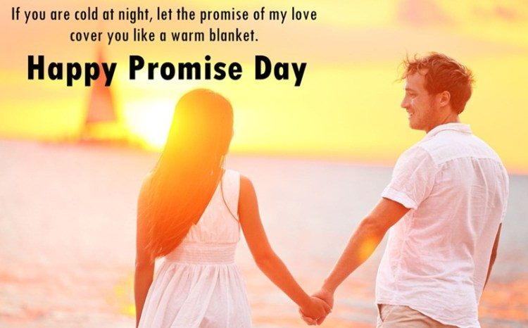 If You Are Could At Night Let The Promise Of My Love Happy Promise Day Image