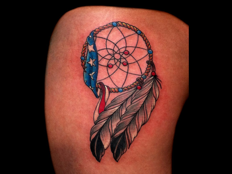 Impressing With American Flag Tattoo Design For Girls & Boys
