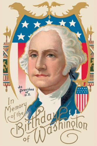 In Memory Of The 1st President George Washington Birthday Image