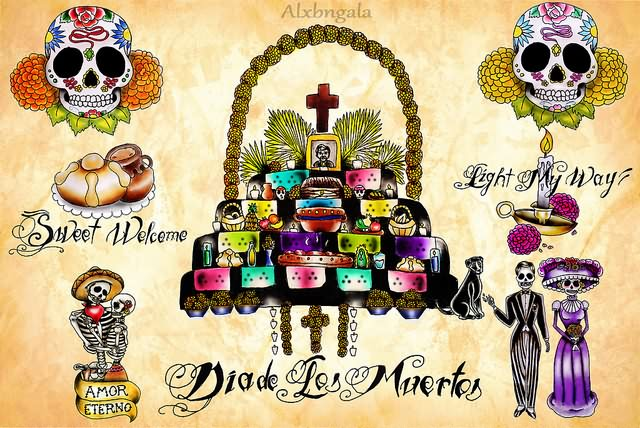 Incredible Dia De Los Muertos Tattoo Designs For Boys