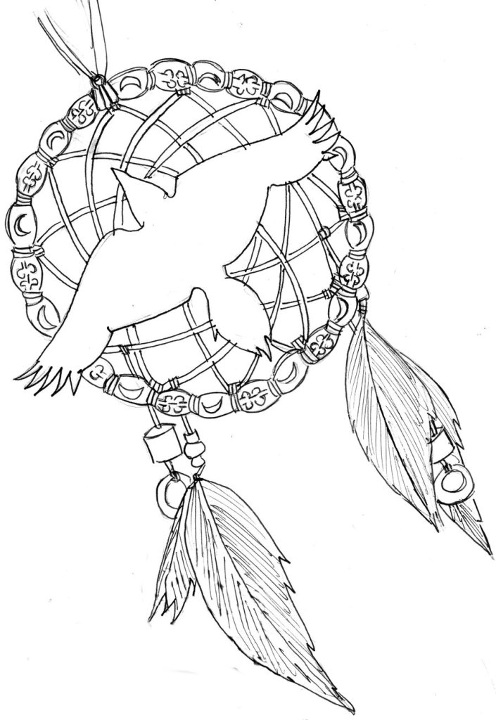 Incredible Dream Catcher Tattoo Sample For Boys