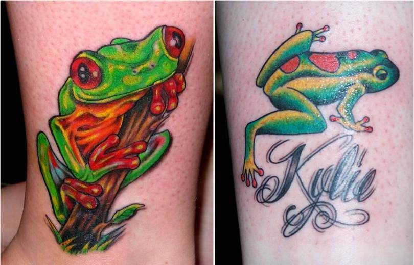 Incredible Frog Tattoo Designs For Girls