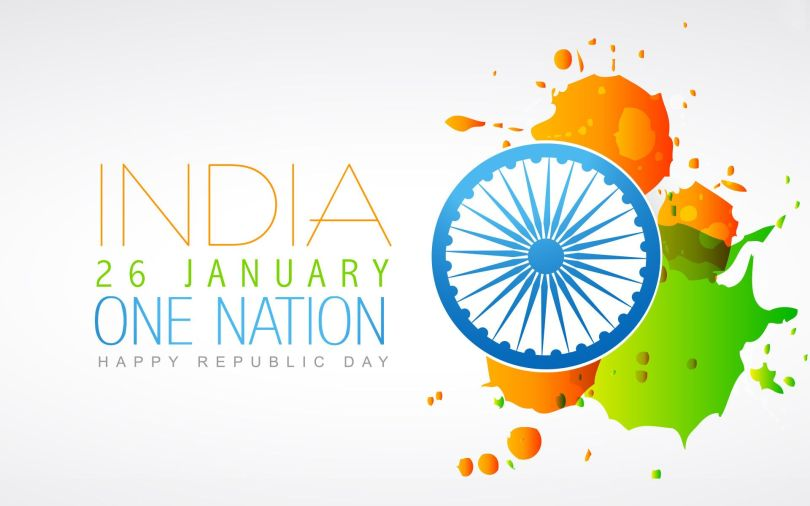 India 26 January One Nation Happy Republic Day Wishes Wallpaper For Whatsapp