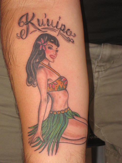 Innovative Pin Up Girl Tattoo Design For Boys