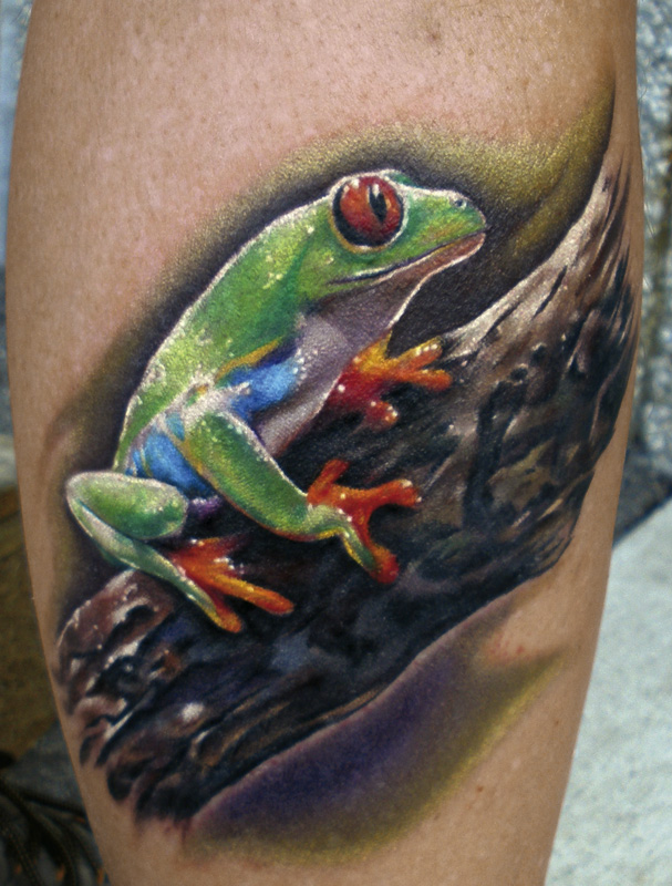 Inspirational Frog Tattoo Design For Boys