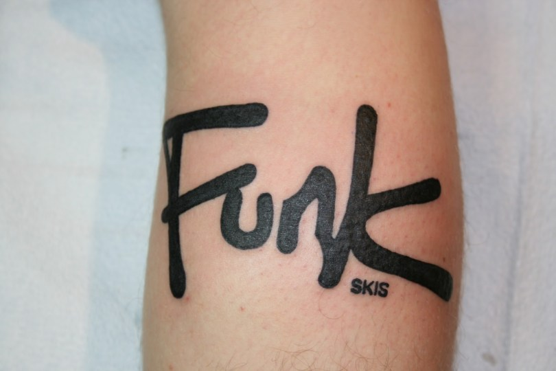 Inspirational Funk Skis Tattoo Design For Boys