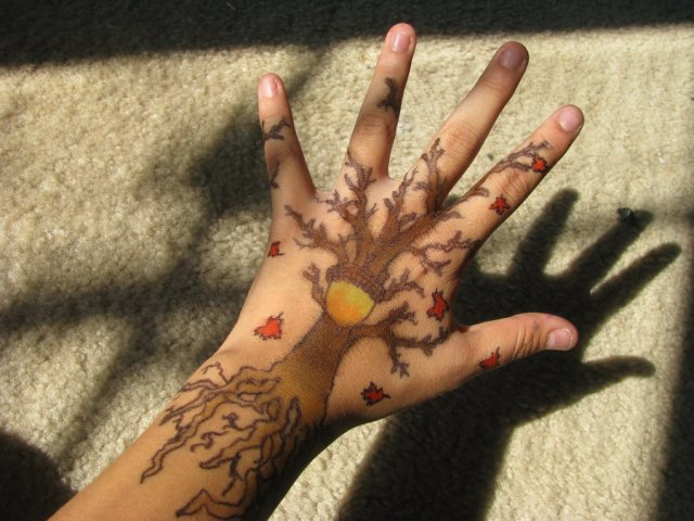 Inspirational Hand Doodles Tattoo Design For Girls