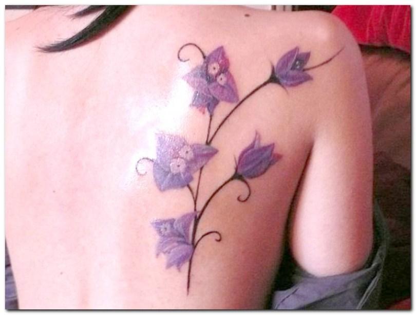 Inspirational Orchid Flower Tattoo Design On Back Shoulder For Girls