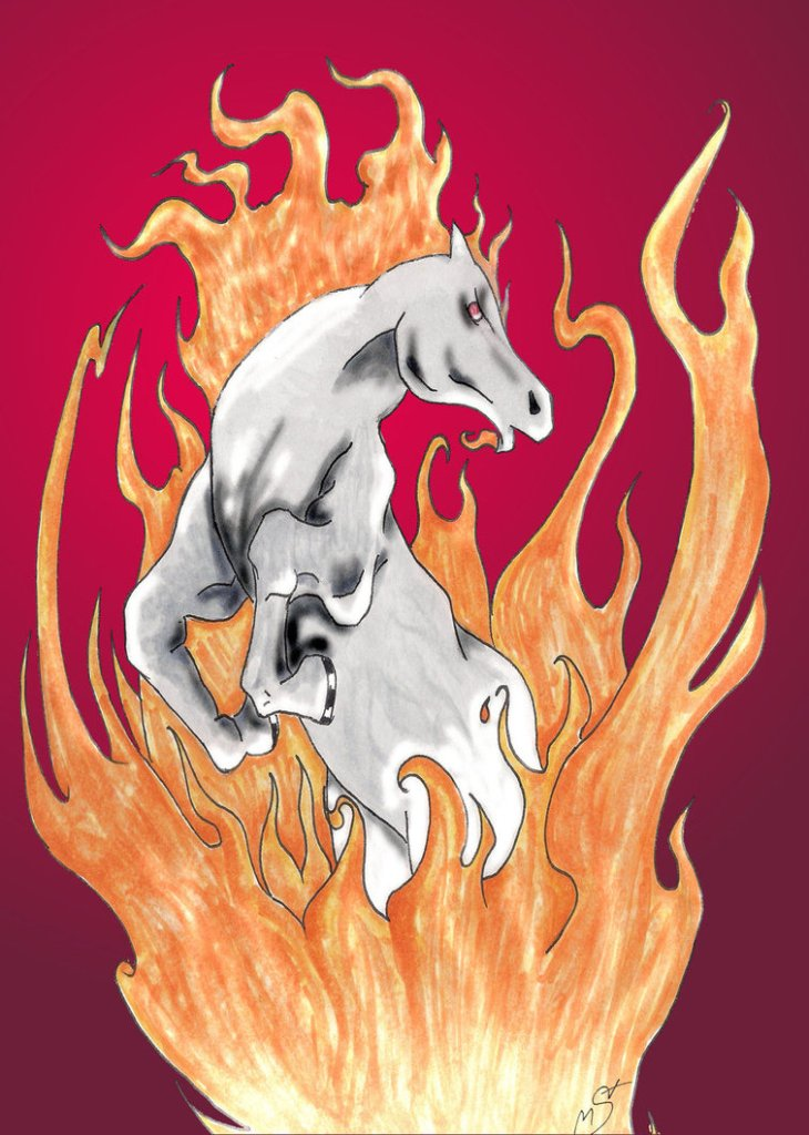 Inspiring Fire Horse Tattoo Graphic For Girls