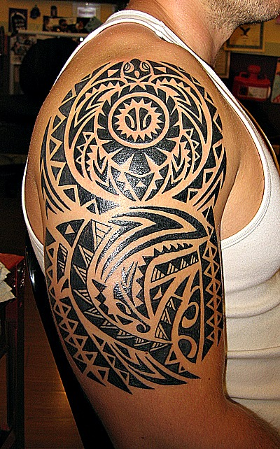 Inspiring Half Sleeve Hawaiian Tattoo Design For Boys