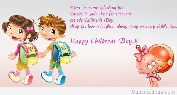 Lets Celebrate Happy Childrens Day Wishes Image