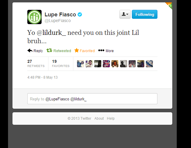 Lil Durk Quotes Yo @lildurk need you on this joint lil bruh