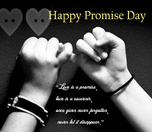 Love Is A Promise Happy Promise Day Image