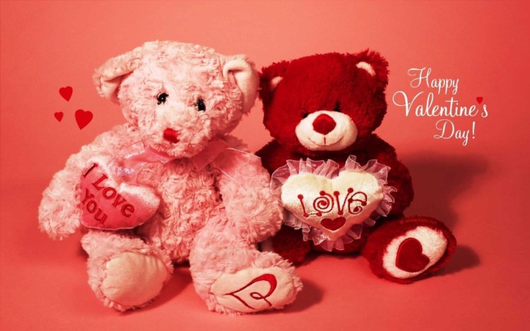 Lovely Teddy Day Wishes Wallpaper