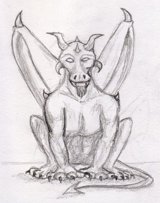 Maori Again Gargoyle Tattoo Sketch For Boys