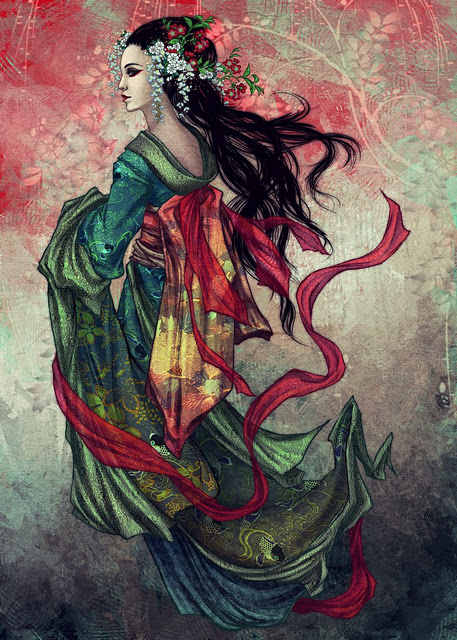 Marvelous Geisha Tattoo Poster For Girls