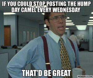 Meme If You Could Stop Posting The Hump day Camel Every Wednesday That Be Great Picture