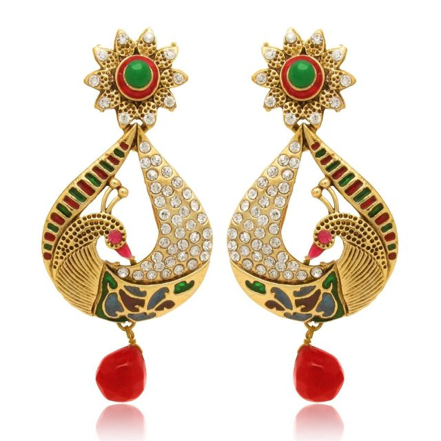 Metal Gold color Dangle & Drop Earrings For Women 01