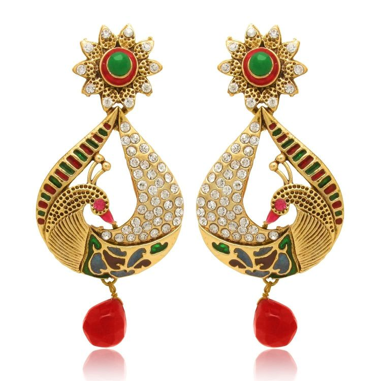 Metal Gold color Dangle & Drop Earrings For Women 01