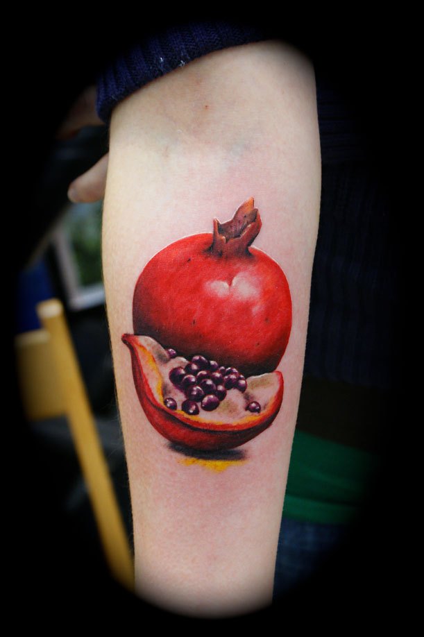 Mind Blowing Fruit Tattoo Design For Girls