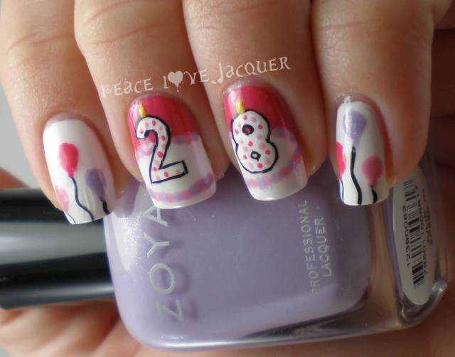 Most Fabulous Age Birthday Nail Art