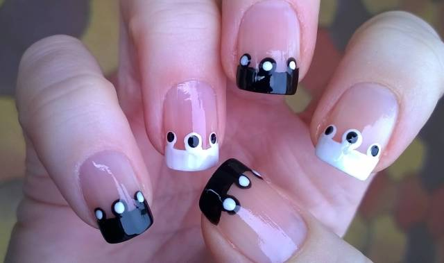 Most Incredible Black And White Nails With Unique Design