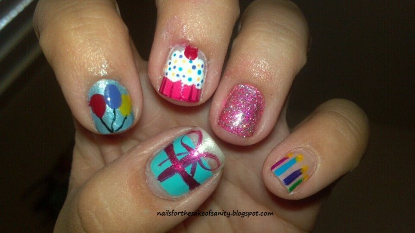 Most Incredible Gifts And Ice Cream Birthday Nails