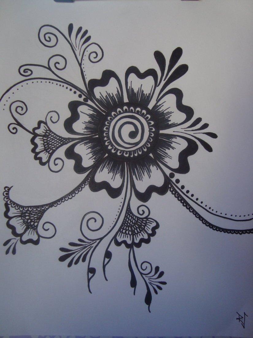 Motivational Henna Tattoo Design For Girls