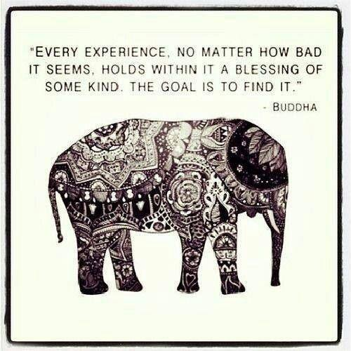 Move On saying every experience no matter how bad it seems holds within it a blessing of some kind the goal is to find it