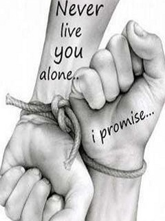 Never Live You Alone I Promise Happy Promise Day Image