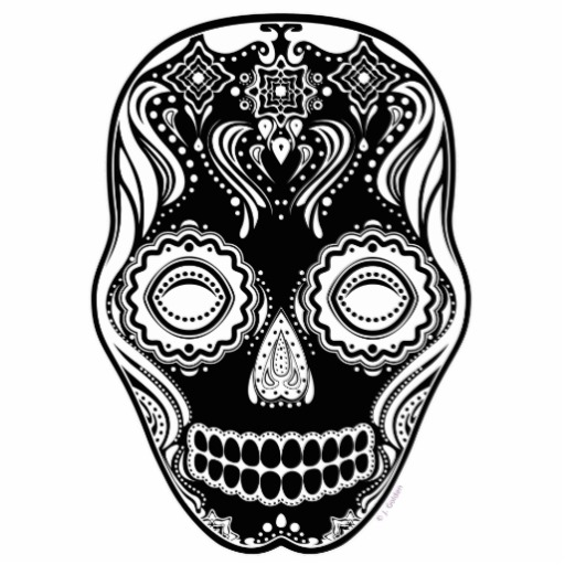 Out Standing Dia De Los Muertos Skull Tattoo Photo For Girls