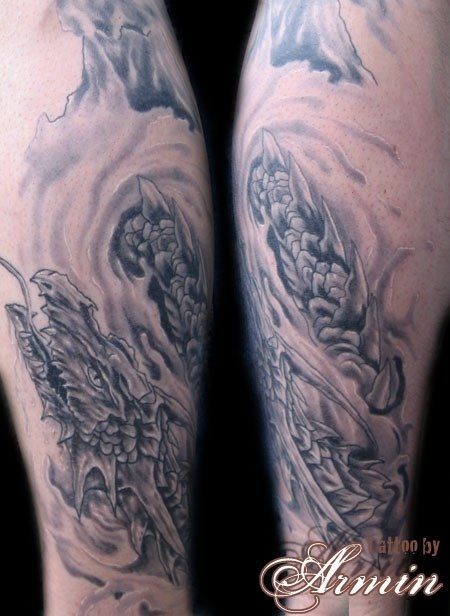 Out Standing Dragon Fantasy Tattoo Design For Boys