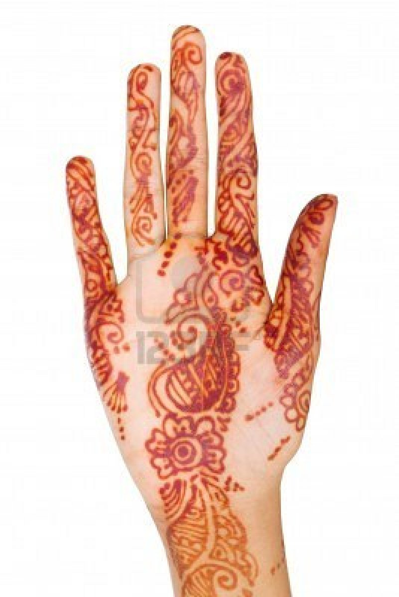 Out Standing Henna Tattoo Design On Hand For Girls