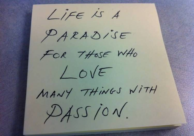 Passion Quotes Life Is A Paradise For Those Who Love Many Things With Passion