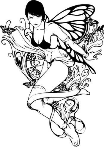 Passionate Fairy Tattoo Sample For Boys
