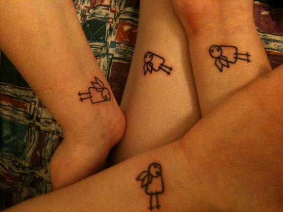 Passionate Matching Tattoo For Boys