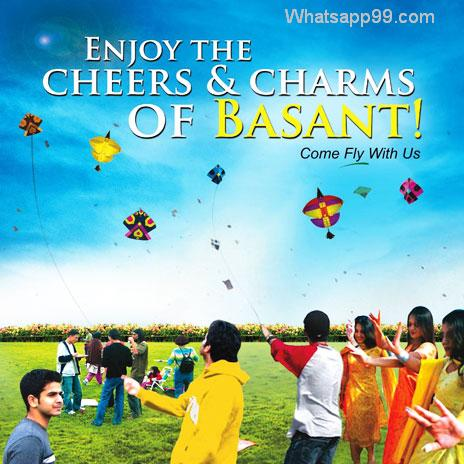 People Celebrate Basant Panchami Fly Kites Image