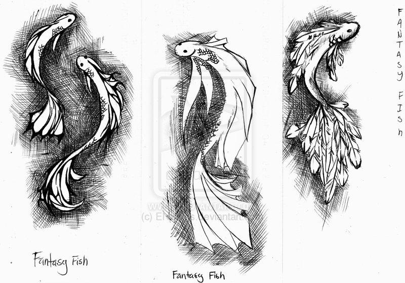 Perfect Fantasy Fish Tattoo Designs For Girls