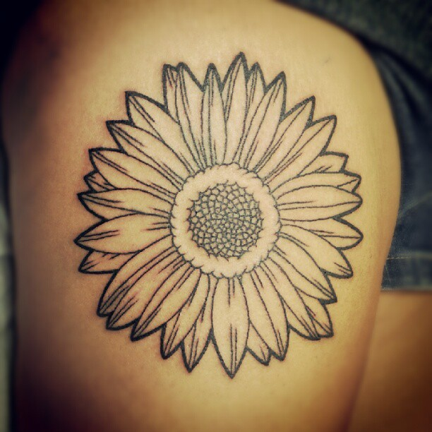 Perfect Flower Tattoo On Thigh For Girls