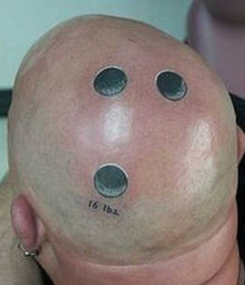 Perfect Funny Head Tattoo Design For Boys