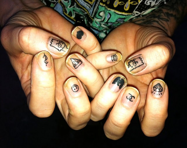 Perfect Homemade Nails Tattoo Designs For Boys