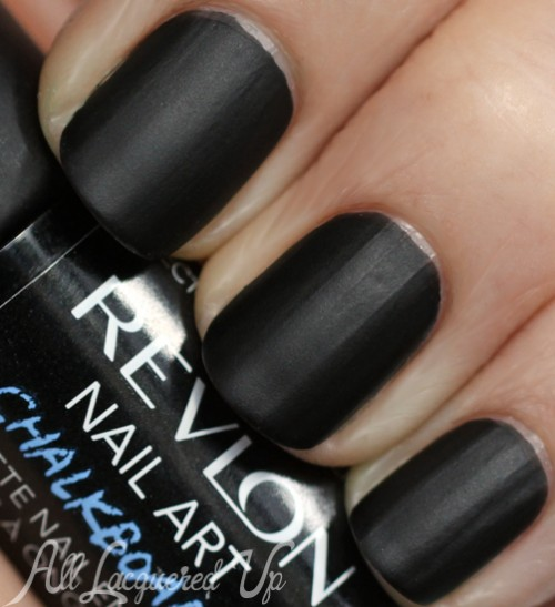 Phenomenal Black Matte Nails With Full Black Paint