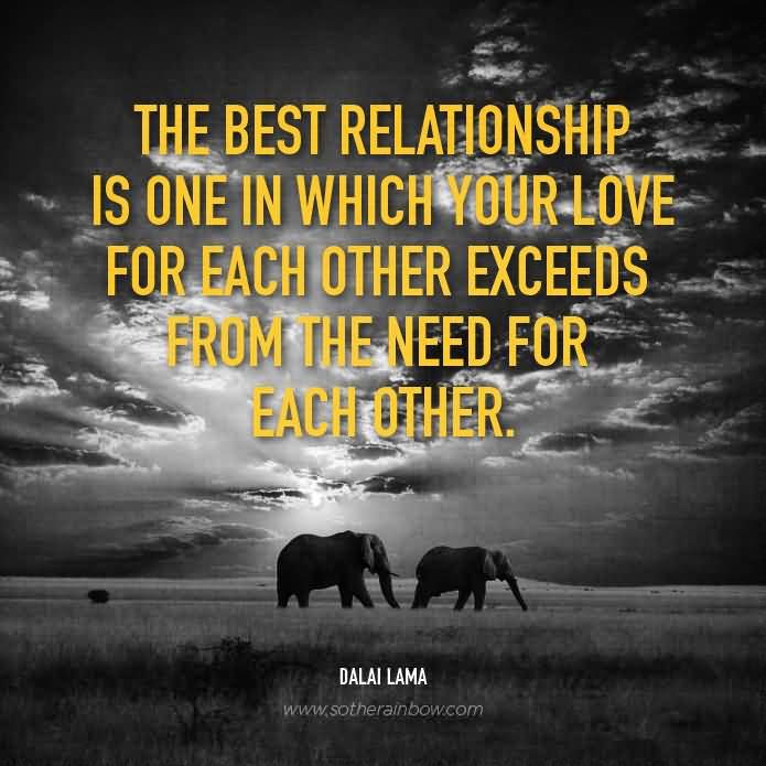 Relationship Quotes the best relationship is one in which your love for each other exceeds