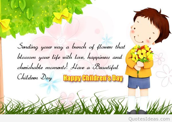 Sending You A Warm Wishes Happy Children's Day Image