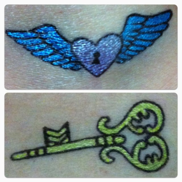 Sensation Heart n Key Couple Tattoo Designs For Boys