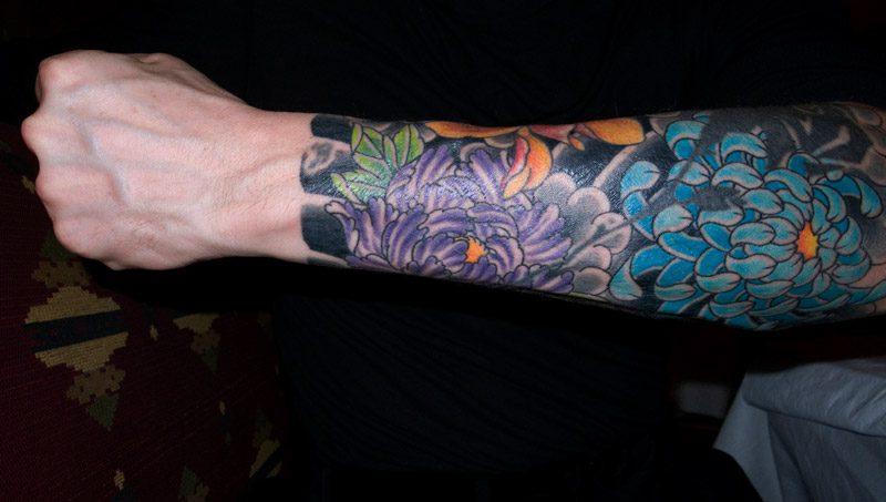 Sensational Flower Tattoo Design On Forearm For Boys